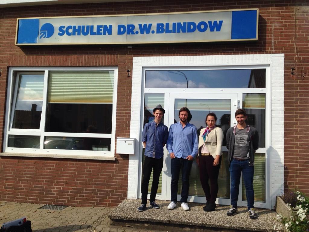 Das Blindow-Team: Luca Stein, Daniel Arlitt, Jasmin Balci, Patrick Lüdersdorff