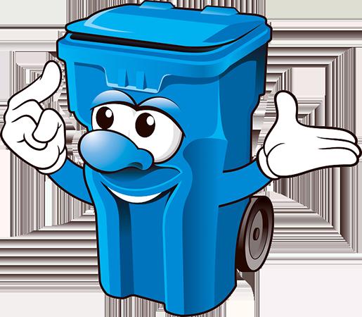 Mülltonne mit Armen