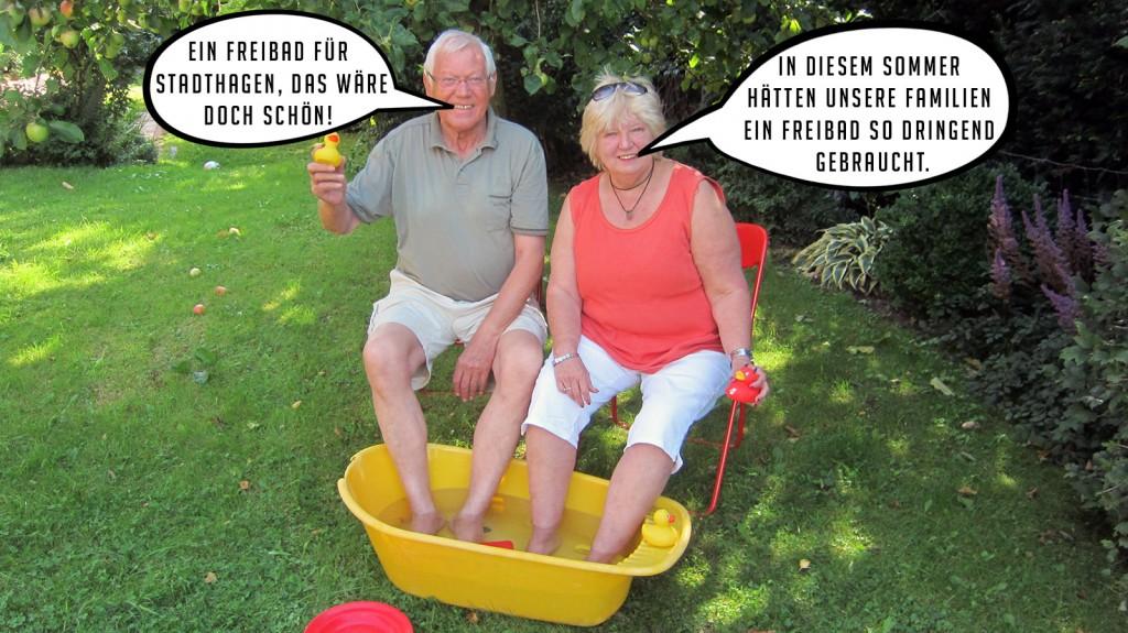 Richard Wilmers und Gundi Donjes von WIR für Schaumburg