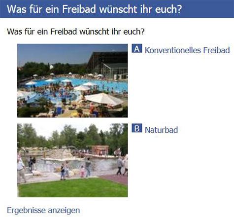 Neue Umfrage auf Facebook